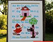 Little Red Riding Hood Alphabet poster