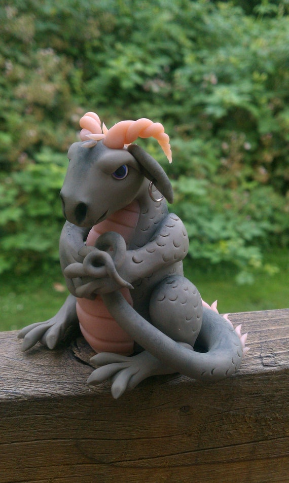 Ooak collectible dragon reserved for Amanda