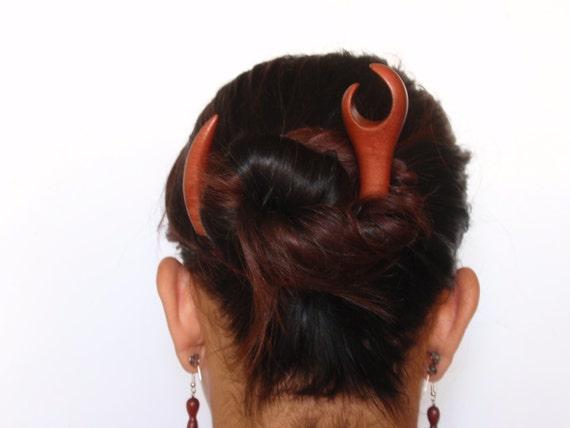 Wooden hair accessory, Hair sticks, Hair fork, Wood, Pink Ivory wood, Hairpin, Handmade