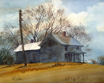 Vassmer's Old Farm- print of an original watercolor