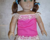 """Ruffle Camisole with Ruffled Skirt for American Girl Dolls or 18"""" Dolls"""