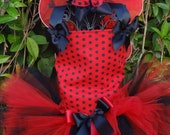 SALE READY  to ship Little Ladybug Tutu Halloween Costume with wings and antennas size 2/3 ONLY