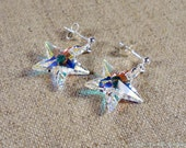 Crystal Clear Star Studs, Swarovski Elements and Sterling Silver Post Earrings