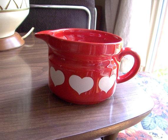 Waechtersbach Heart Creamer In Bright Red and White