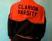 Vintage 90s Wool Letterman Jacket Clarion Varsity Size Youth 10/Women's XS/S