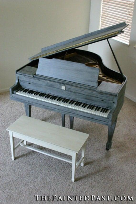 Shabby Chic Baby Grand Piano - UNIQUE