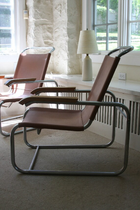 RESERVED Marcel Breuer S 35 Style Vintage Lounge Chair Mid Century, Modern
