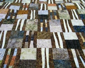 Contemporary Patchwork Lap Quilt Throw Blanket