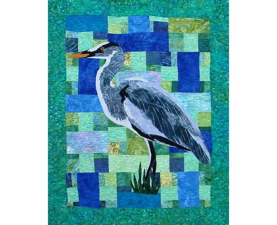 Quilt, Fiber Art, Bird Quilt
