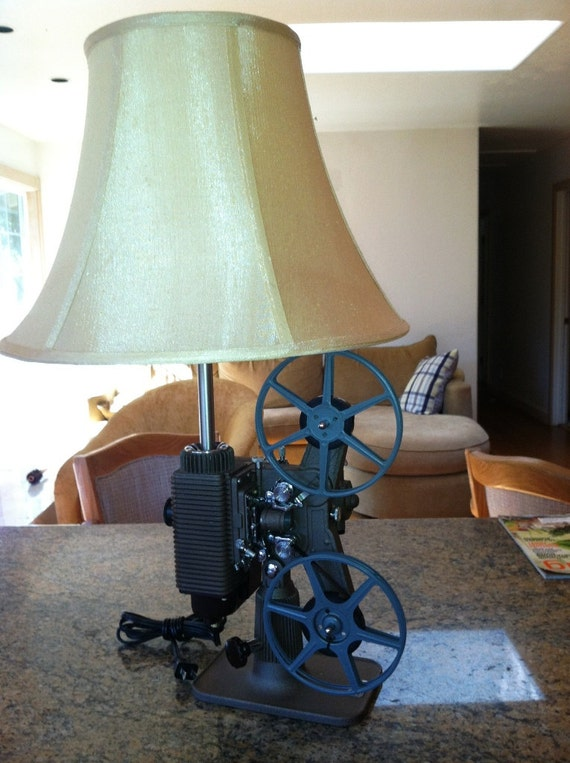 Vintage 8mm Film Projector Table Lamp