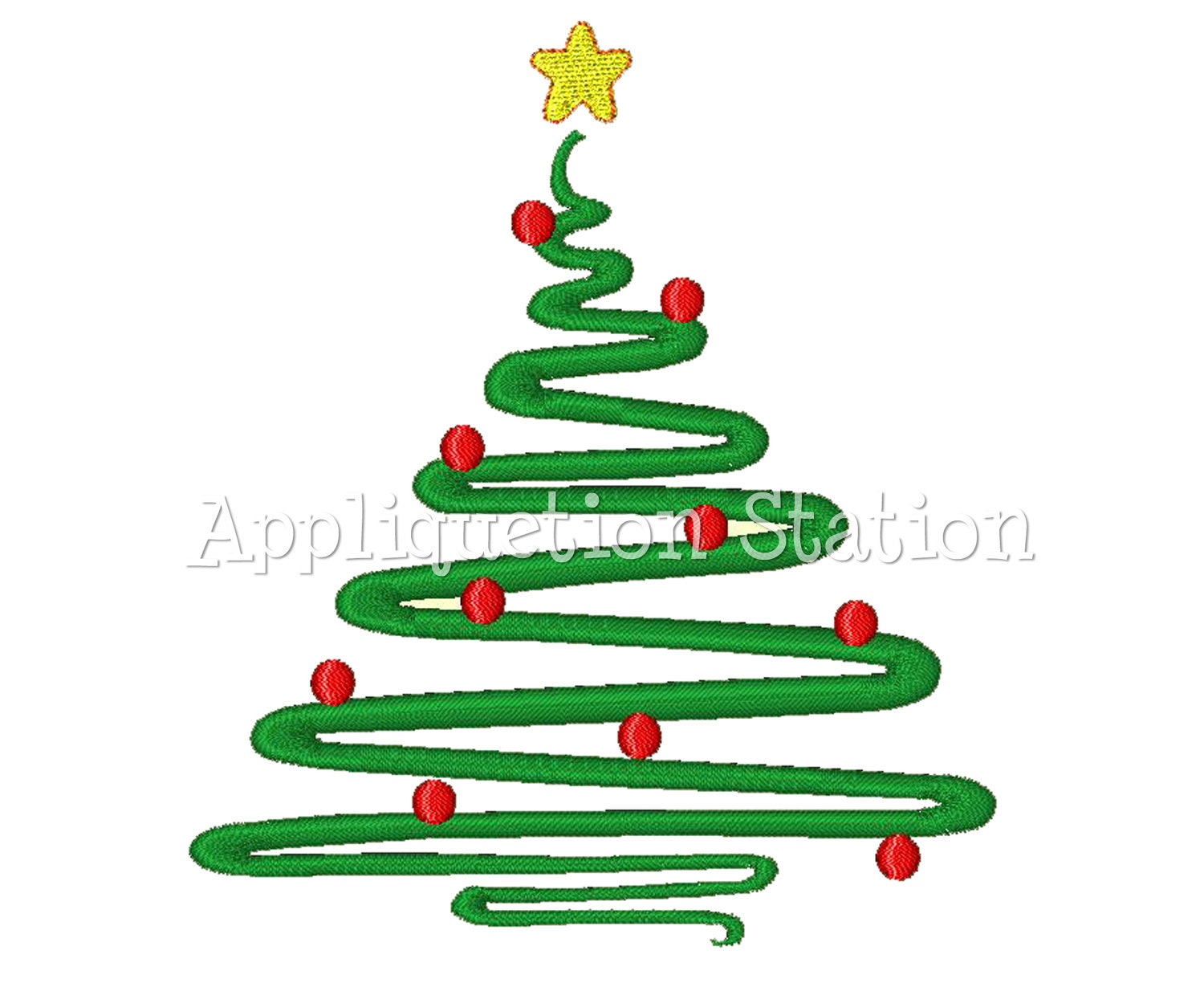 Contemporary Christmas Designs christmas tree abstract contemporary machine embroidery design