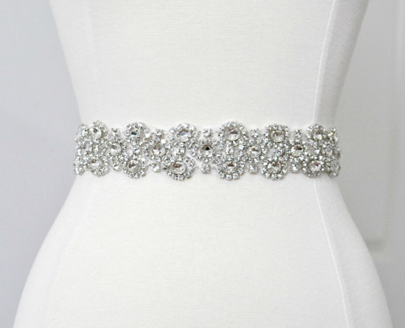 Ready To Ship - Bridal crystal belt, rhinestone sash, bridal sash, bridal belt