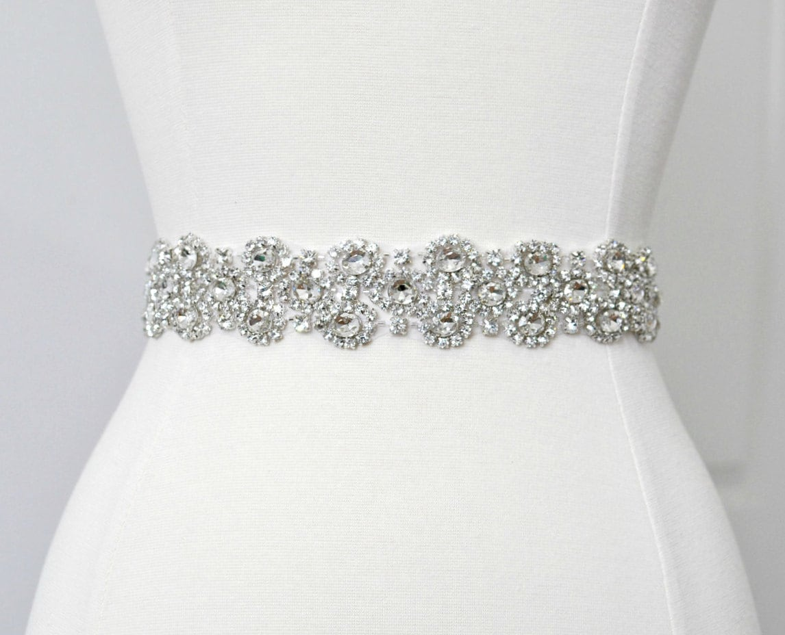 Bridal Crystal Belt Rhinestone Sash Bridal Sash Bridal Belt