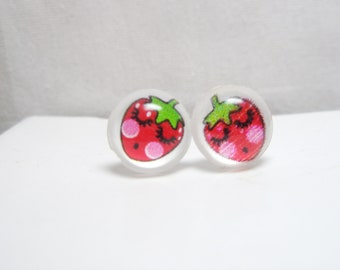 Sale -Strawberry Post Earring