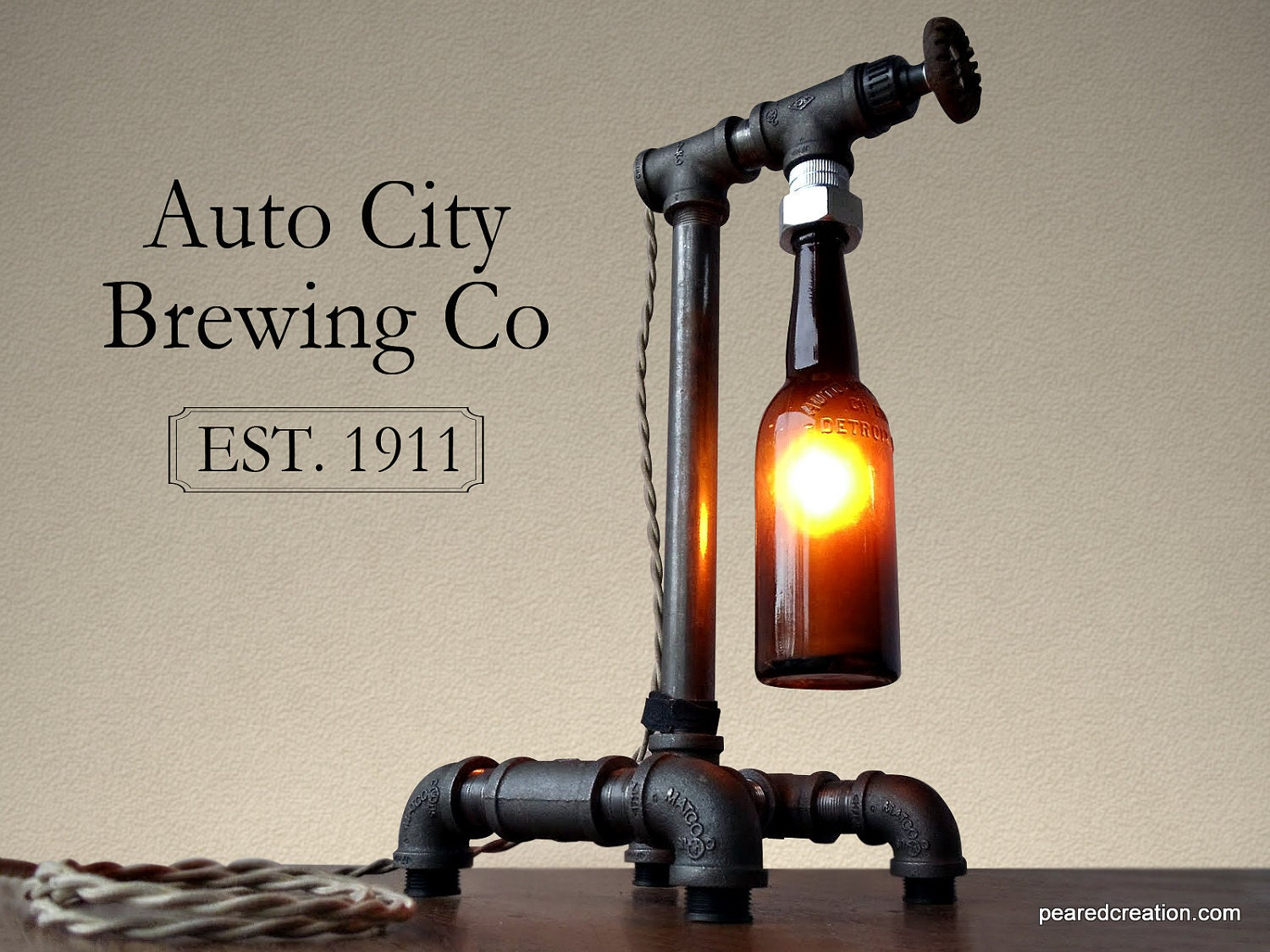 Industrial Light Parts : Industrial brewery lamp bottle lighting steampunk fixture