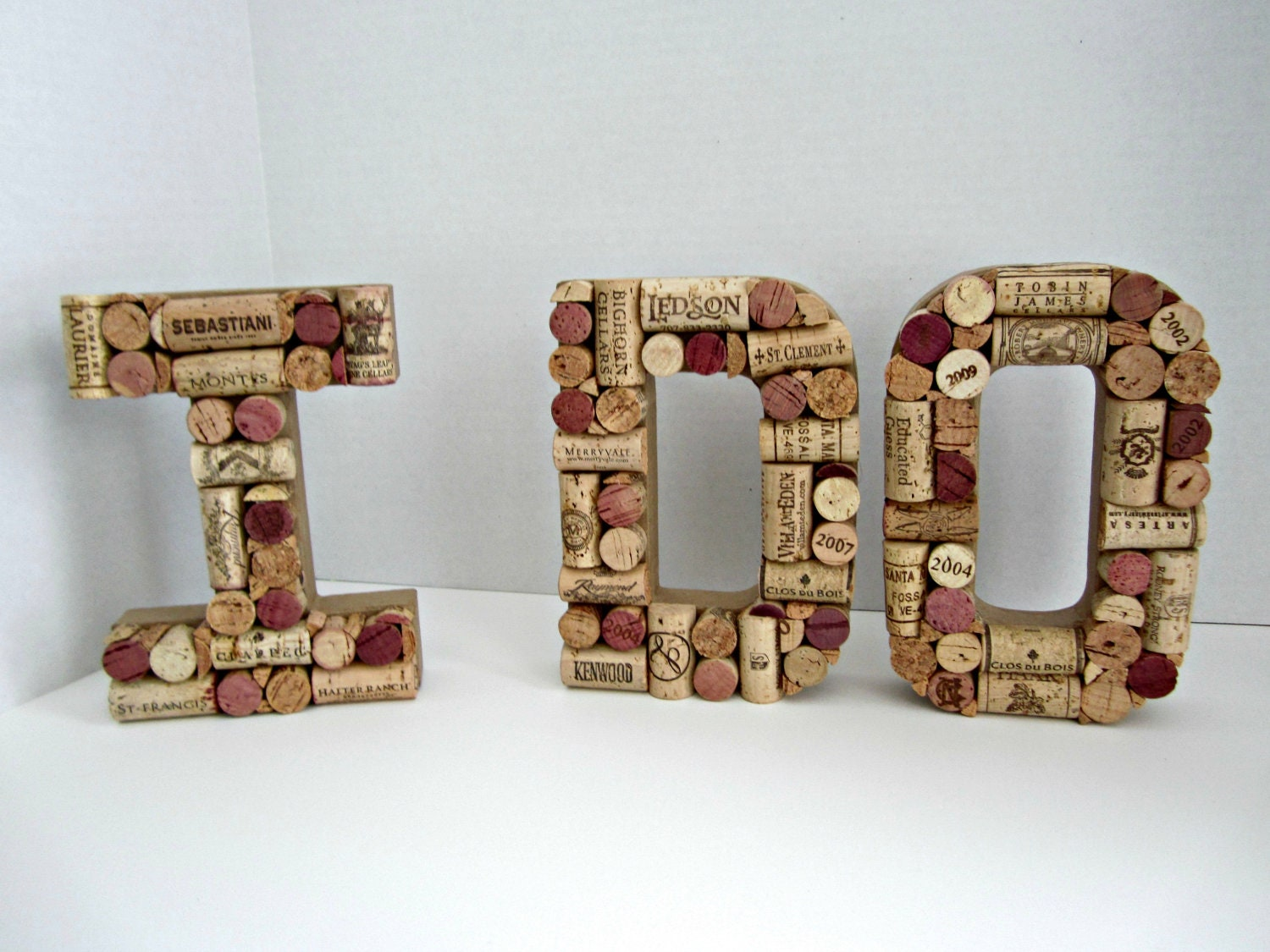 I do in wine cork letters for Wine cork crafts for weddings