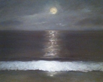 Blue nocturne- Glicee reproduction of oringinal oil painting