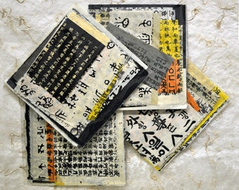 """Orient Expressions """"Loose Paper Parts"""" 10 assorted Kanji & 2 solid color, random sized, """"paper parts - 12 pc. total"""""""