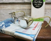Vintage Industrial Factory Safety Glasses -- With Original Box