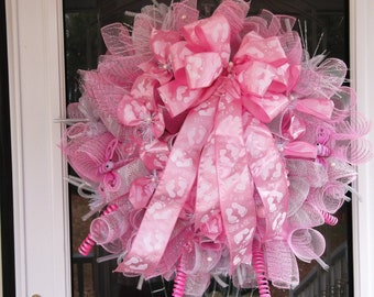 Mesh Baby Shower Wreath