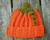 Pumpkin Hat   Newborn - 3 Months - FREE US shipping