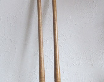 Vintage Brass Hands Oak Wood Back Scratcher........Price is for one..One left