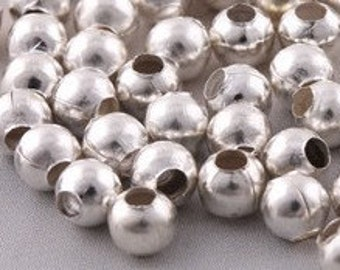 Beader's Bright SILVER Plated Metal SPACER 6mm (50) BEADS