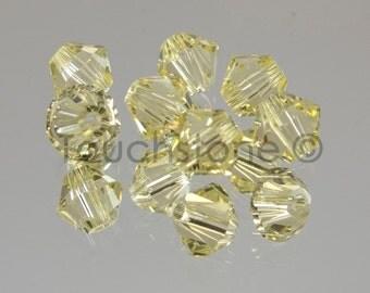 4mm Jonquil Swarovski Crystal Bicone Beads 72 Beads #45-1140