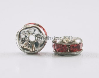 5mm Rose Crystal Rondelle Spacer Beads #-