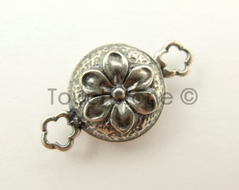 14mm Silver Fancy Flower Magnetic Clasp Closure #286-1188512