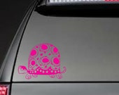 Turtle with Polka Dots -  Car, Laptop, Cell Phone Decal - Free Shipping