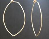Pointed Hoop Earrings - Leaf