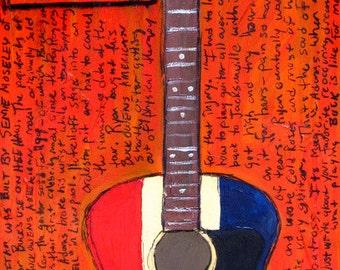 Ryan Adams Buck Owens American acoustic guitar art print