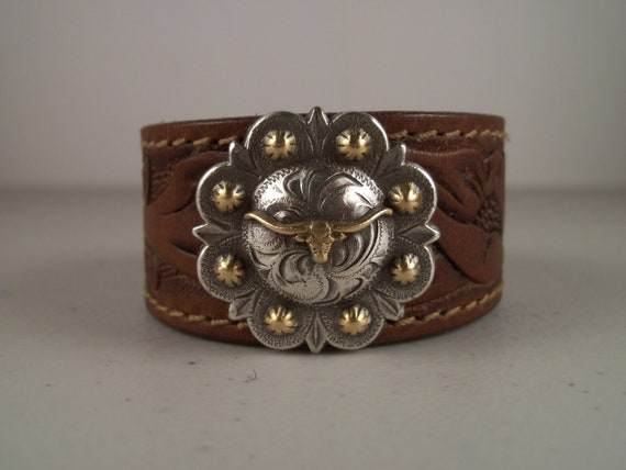 Cowboy Cuffs from Repurposed Cowboy Belts - Made in Texas