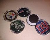 NFL Team Logo Magnets  Set of Five