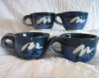 Blue and Emerald Tea Cups