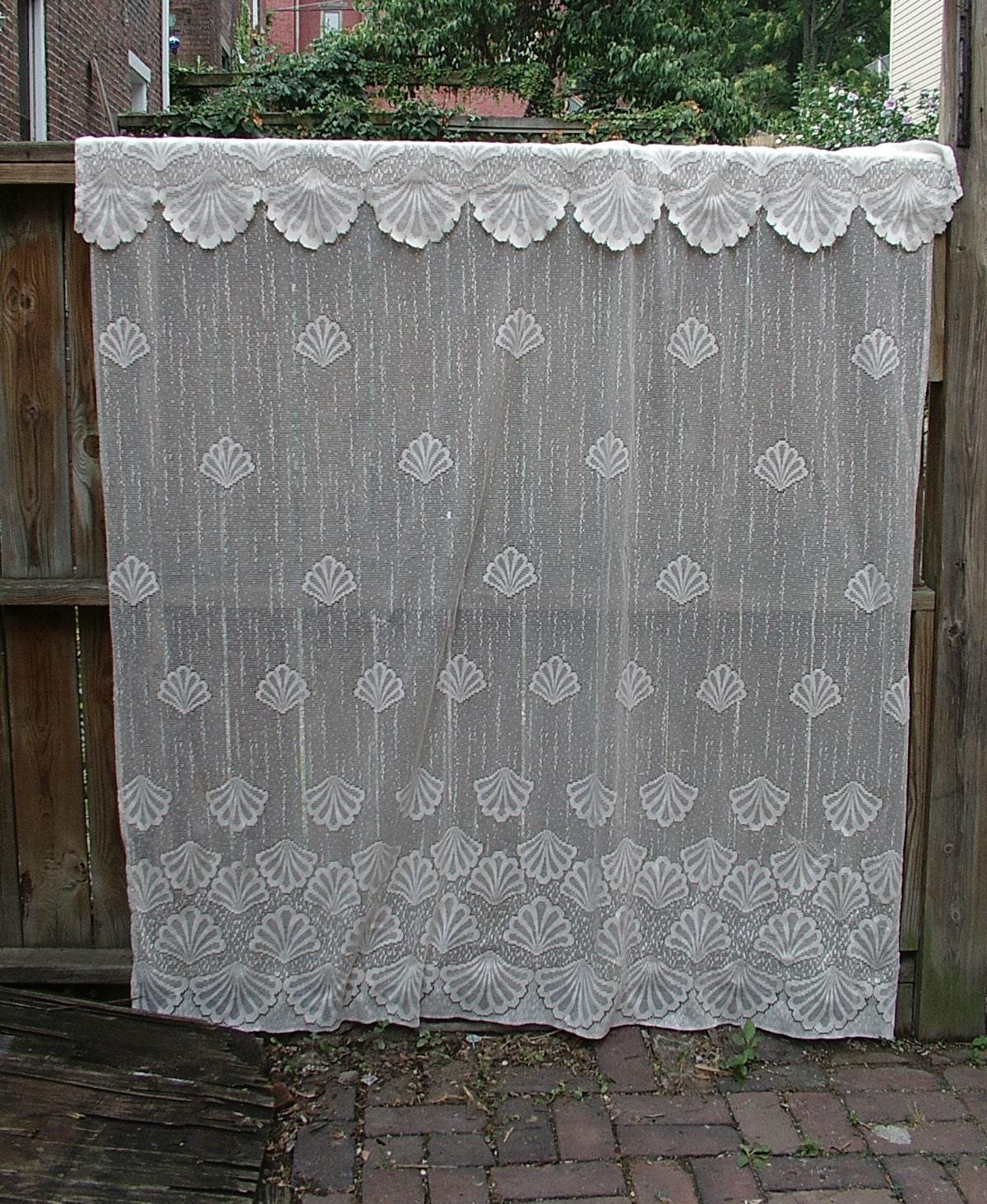 Window Sea Shells Seashell Lace Shower Curtain Or Window