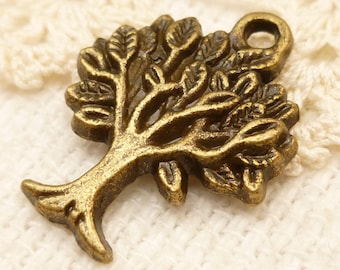 Tree of Life Charms Antiqued Bronze (6)  - A78