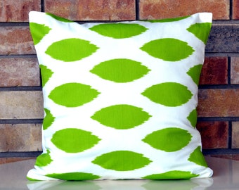 Throw Pillows Ikat green decorative pillow cover designer pillow 18 inches cushion cover green pillow