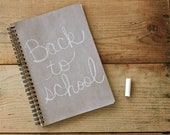 Beige  Light Brown Chalkboard Book  notebook spiral journal