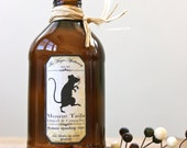 Not a creature was stirring not even a mouse  Vintage Brown Bottle with Mouse Tails Apothecary Label
