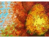 P9 - FlowerHead - Surreal Avant Garde Postcards