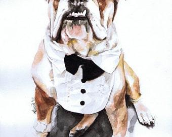 9x12 Custom Watercolor Pet Portrait