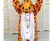 KIGURUMI Animal Pajamas Pyjamas Onesie Adult / Kid SLOTH-cheetah
