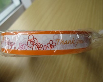 Flower Design Japanese Deco Thank You Tape