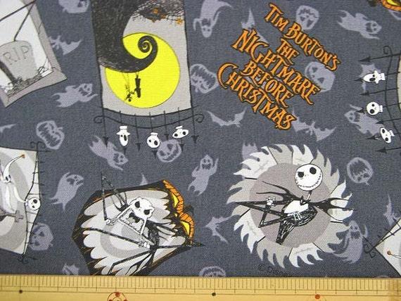 Disney Nightmare Before The Christmas Fabric / Japanese Fabric 50cm x 100cm