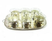 Vintage tea set silver plate   Vintage tea set with tray   christmas wedding gift