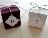 Linen Covered Favor Boxes (available in many colors)
