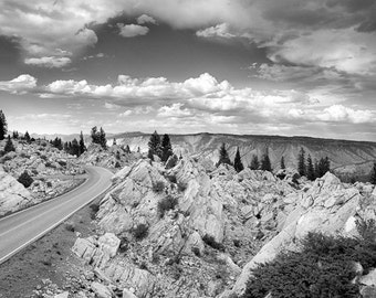 "The road to the Hoodoos in Yellowstone National Park 8""X12"" photograph."