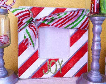 Candy Cane Stripes Picture Frame